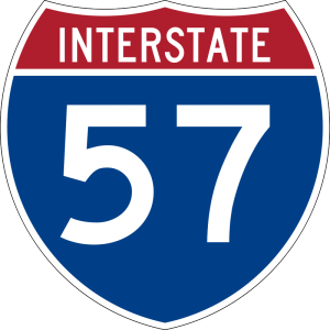 Northbound I-57 to be one lane south of Mt. Vernon starting Monday