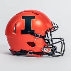 U of I football helmet