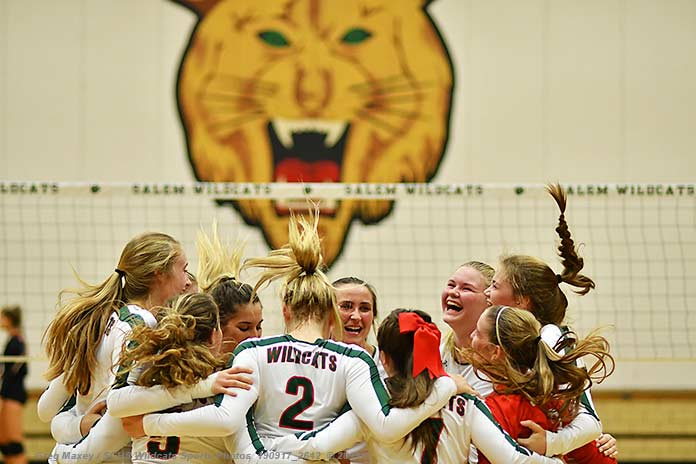 Lady Cats Get 3 Set Win Over Olney
