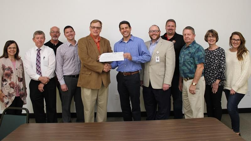 Balloon Fest donates $10,000 to Foundation Park for Park Improvements