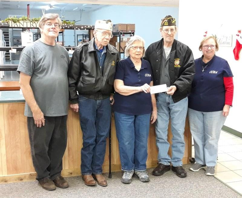 Centralia VFW Donates $511 to CCBA Food Pantry
