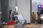 Grain bin accident sends one to the hospital