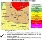 National Weather Service says severe weather possible Saturday afternoon and evening  (updated 1pm 3-28-20)