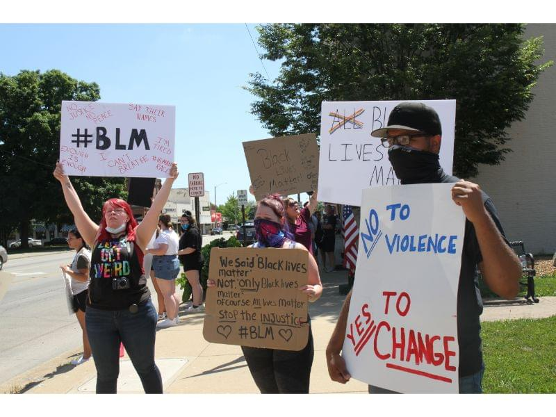 Salem Cares Peaceful Protest draws more than 100 to Sweney Corner