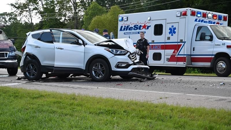 One person injured in three-vehicle crash on Route 161 near Moonglow Road