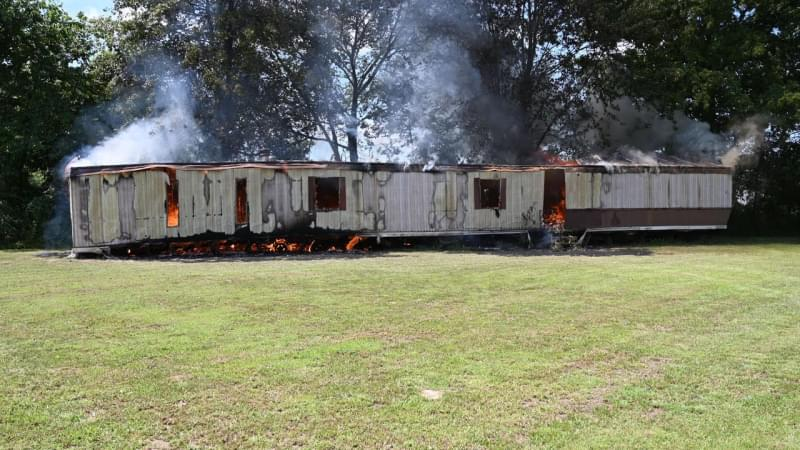 Vacant mobile home burns in Thursday afternoon fire