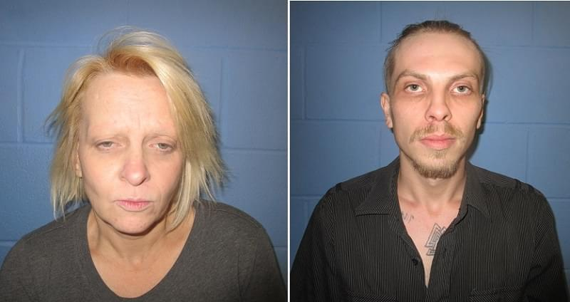 Mother and son arrested on drug charges and warrants following traffic stop