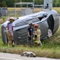 Three injured in two-vehicle crash on north side of Sandoval