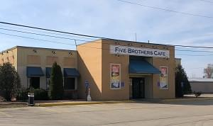 Five Brothers Cafe damaged in late Sunday night fire