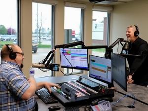 Shawn Foxx and Craig Laue from 1057 KOKZ from the new KOKZ studio