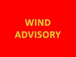 Wind Advisory Until 6PM Tuesday Evening