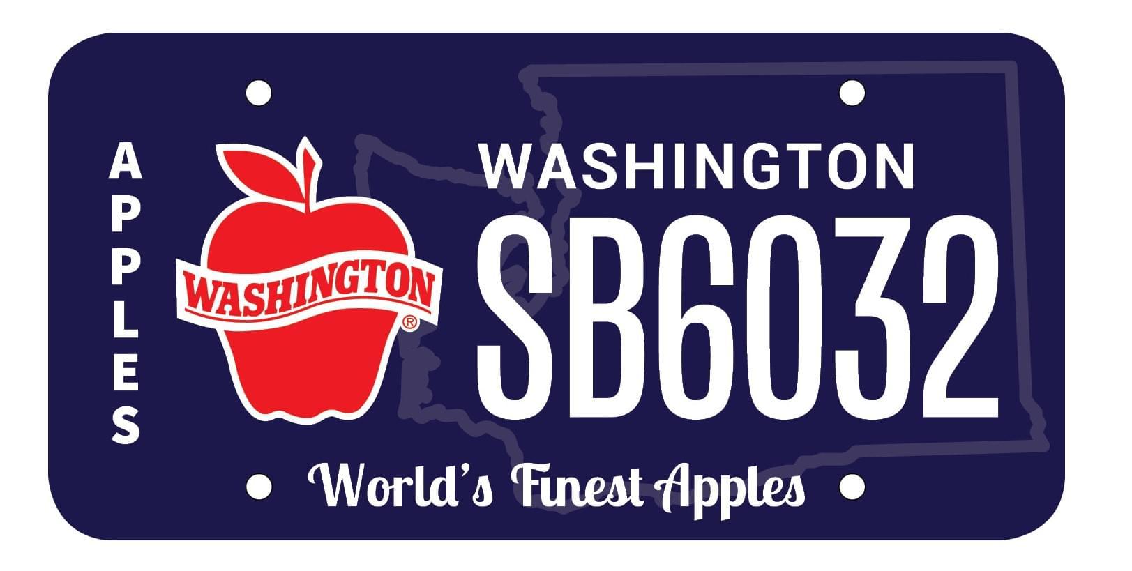 Hawkins sponsors Washington apple license plate bill
