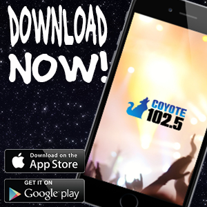 Download The Coyote 102.5 App Now!