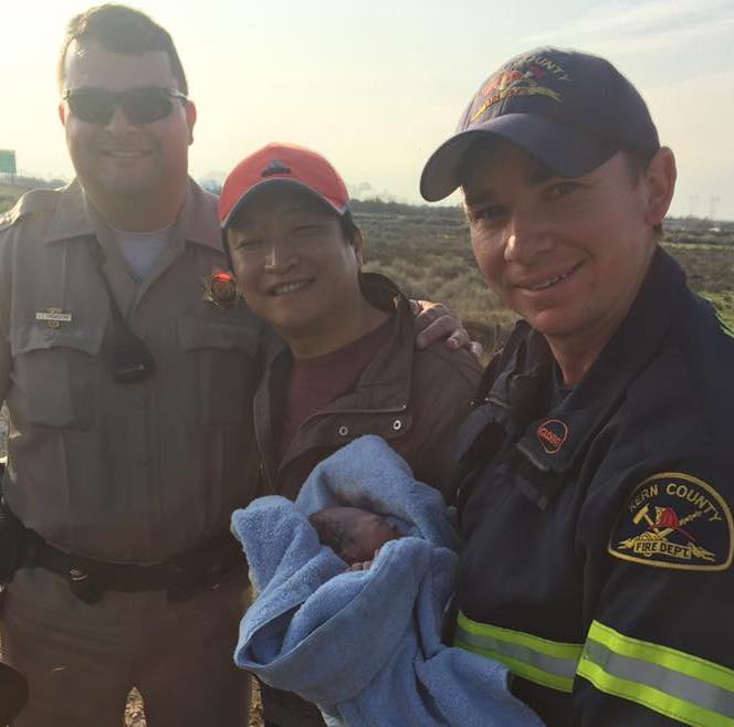 This CHP traffic stop ended up being a bundle of joy