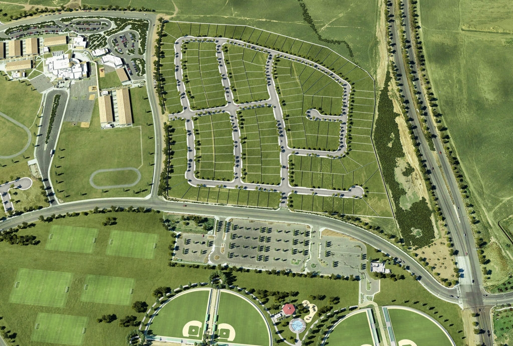 The Shamrock Hills Site Plan in east Bakersfield just south of Highway 178.