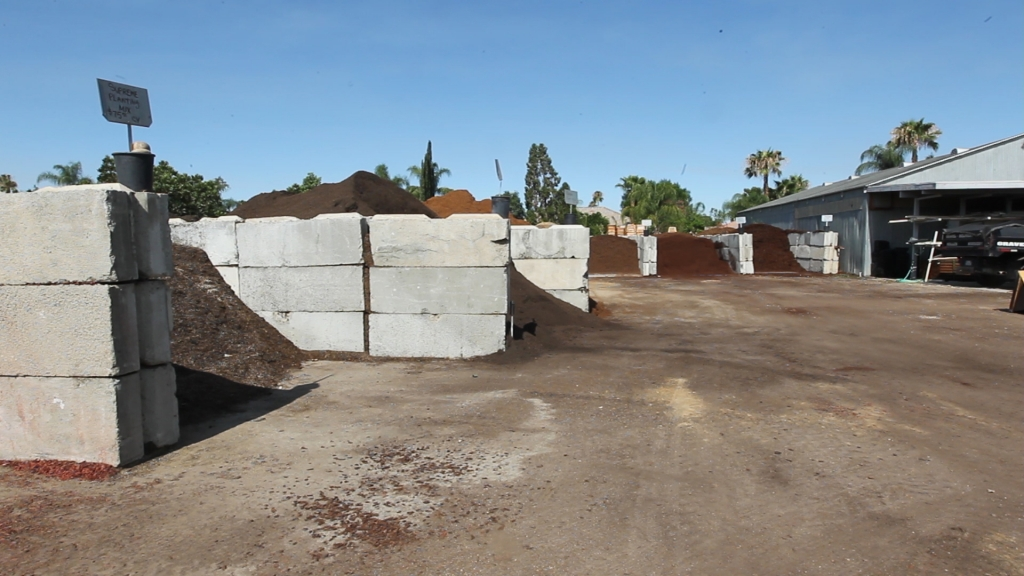 Just some of the materials available for your landscaping project at Bolles Nursery in Bakersfield.