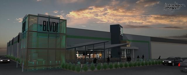 The BLVD, a multiplex entertainment complex, opens next month on Buck Owens Boulevard