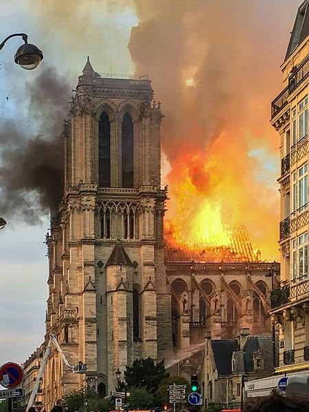We hear from former city councilwoman Sue Benham, in Paris, about the fire at Notre Dame