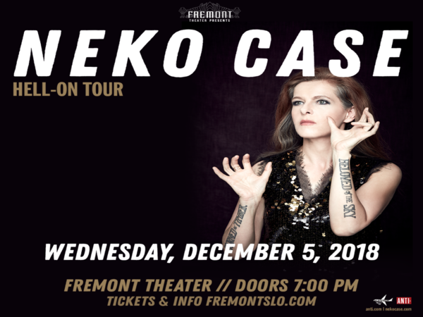 Suzanne talks to Neko Case ahead of her show tonight at the Fremont – 12/4/18