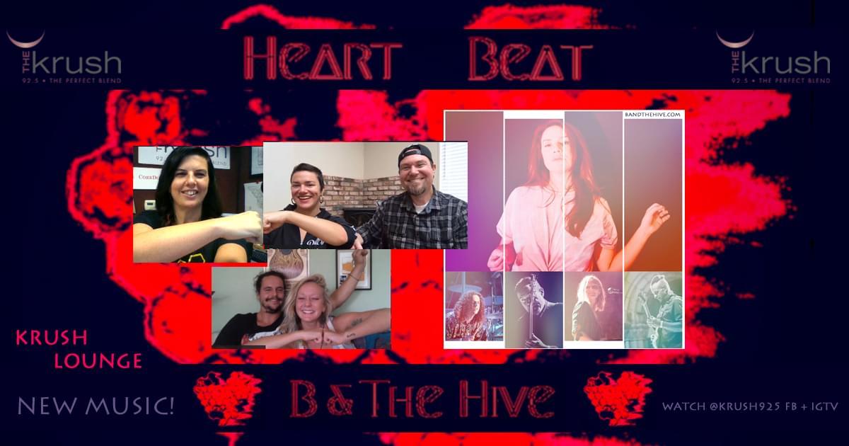 Krush Lounge B & The Hive HEART BEAT EP Release 9/25/20