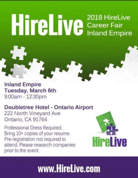 3/6 The Inland Empire Professional Career Fair