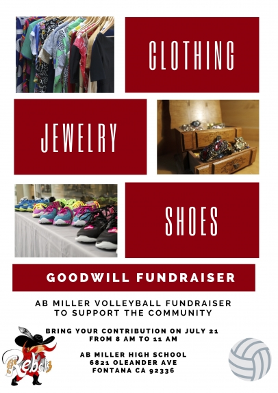 7/21 Goodwill Fundraiser to support AB Miller Volleyball Team