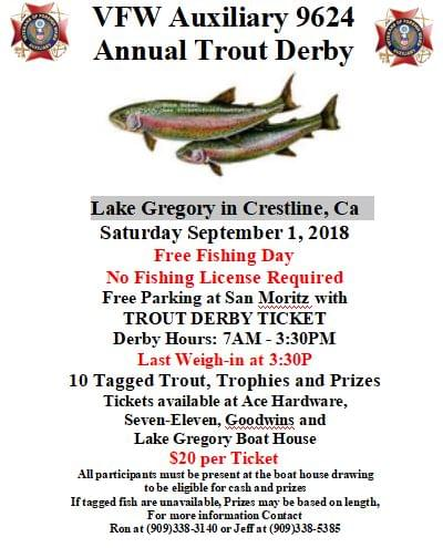 8/1 VFW Auxiliary Trout Derby