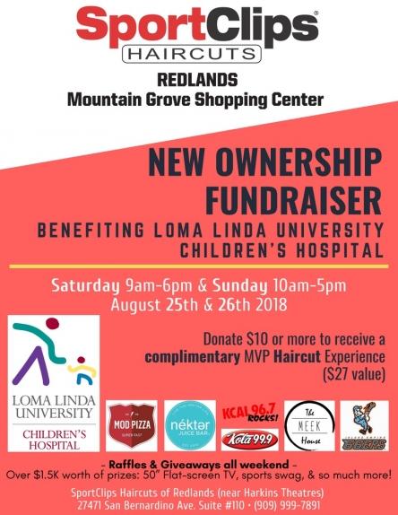 8/25-8/26 SportClips Fundraiser For Loma Linda