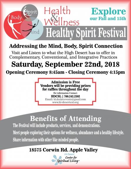 9/22 Healthy Spiritual Festival
