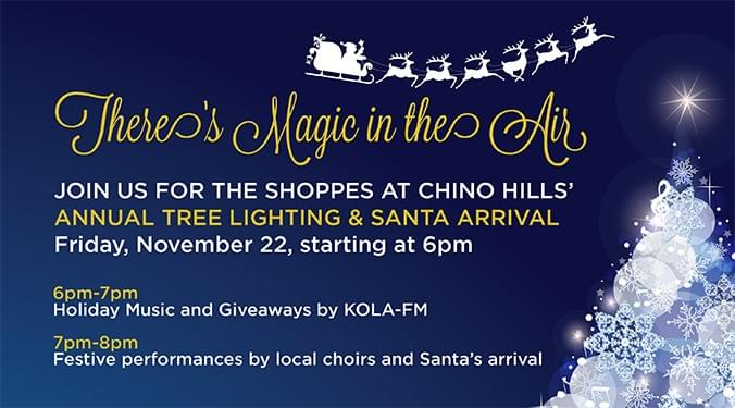 The Shoppes at Chino Hills 2019 Tree Lighting