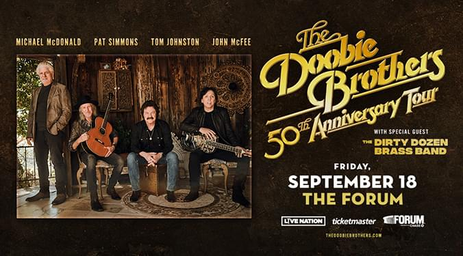 Win Tickets to see The Doobie Brothers!