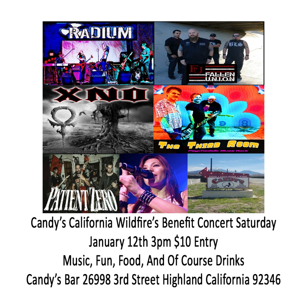 Candy's Bar California Wildfires Benefit Music Festival – Jan 12th