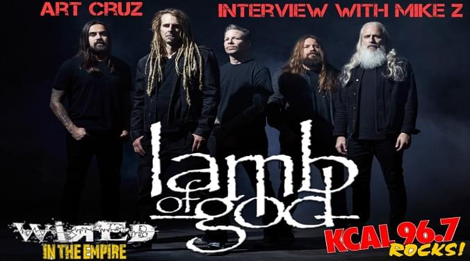 (LISTEN) Lamb Of God drummer Art Cruz talks to Mike Z-Wired In The Empire