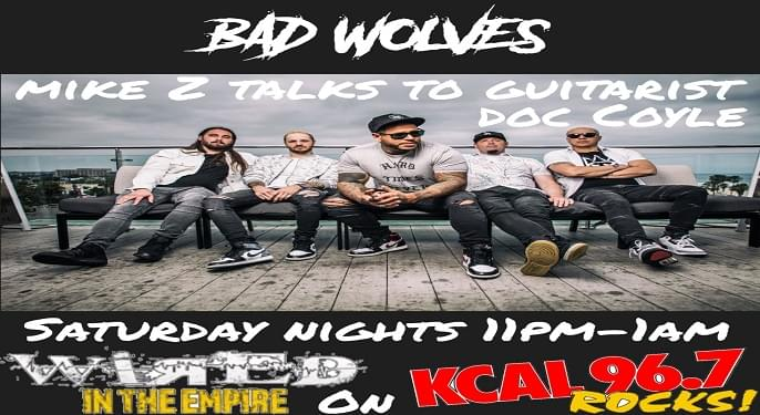 (LISTEN) Bad Wolves guitarist Doc Coyle talks to Mike Z-Wired In The Empire