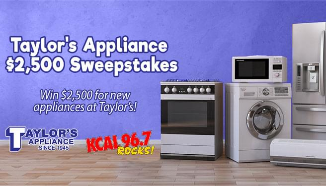 Taylor's Appliance $2,500 Sweepstakes!