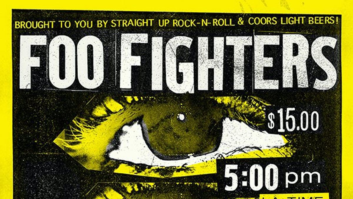 Foo Fighters To Livestream Concert From The Roxy Featuring A Camera Attached to Dave Grohl's Beer Can