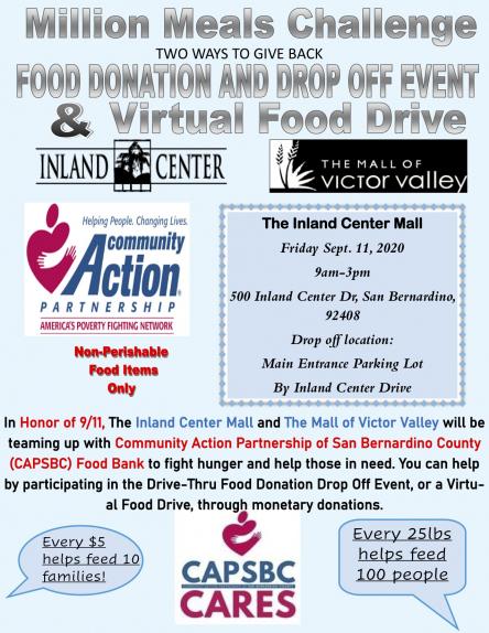 9/11 Community Action Partnership-Million Meals challenge
