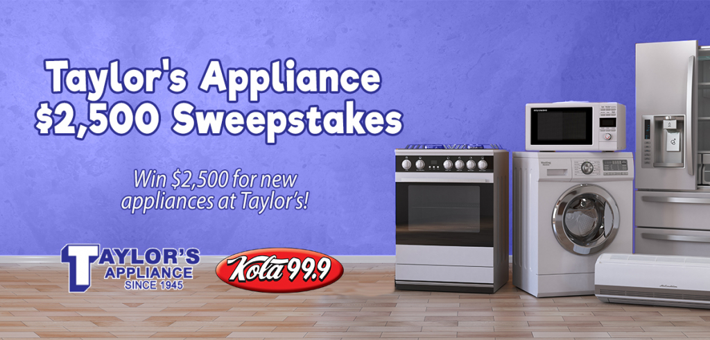 Taylor's Appliance $2,500 Sweepstakes