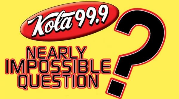 Nearly Impossible Question week of 2/15/21