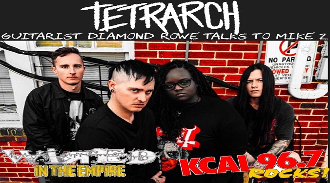(LISTEN) Tetrarch guitarist Diamond Rowe talks to Mike Z-Wired In The Empire