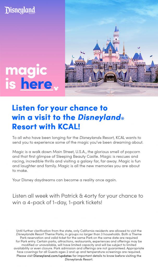 DISNEYLAND® Resort – Magic Is Here