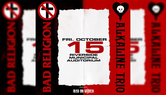 Bad Religion & Alkaline Trio @ Riverside Municipal Auditorium
