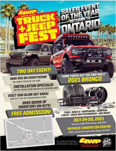 4 Wheel Parts Truck & Jeep Fest @ Ontario Convention Center