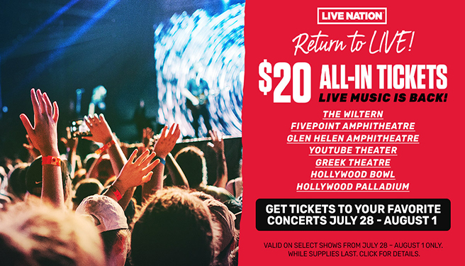 Return To Live $20 All-In Tickets