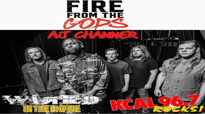 (LISTEN) Fire From The Gods singer AJ Channer talks to Mike Z-Wired In The Empire