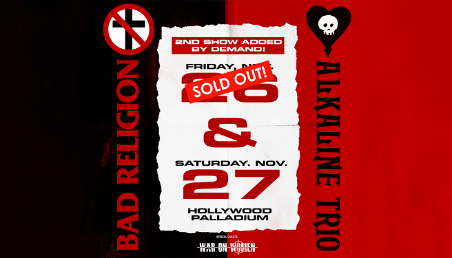 Bad Religion @ The Hollywood Palladium on 11/26 & 11/27