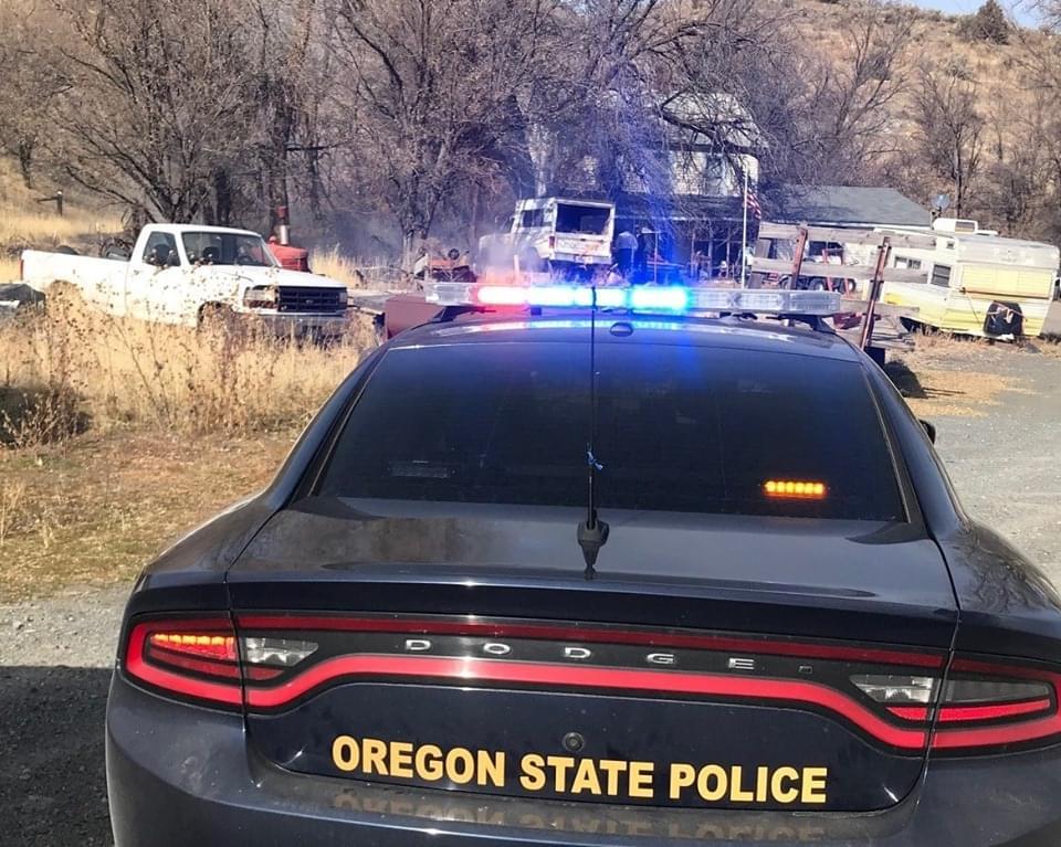 BAKER COUNTY:  Brush Fire near Weatherby Rest Area