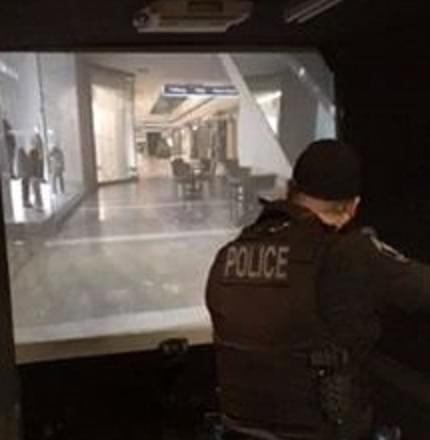 COLLEGE PLACE:  Police train on simulator