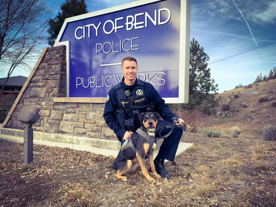 BEND:  Rescue dog is now policing the streets