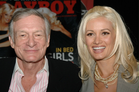 Hugh Hefner Signs November 2005 Issue of Playboy at Virgin Megastore - October 11, 2005